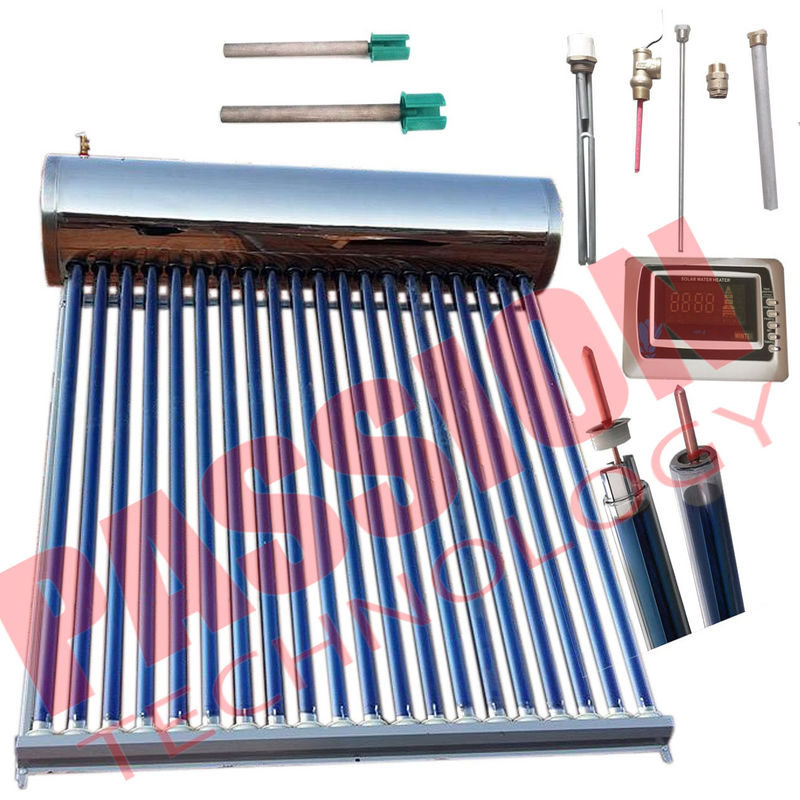 Food Grade Integrative Heat Pipe Solar Water Heater Portable Simple Structure