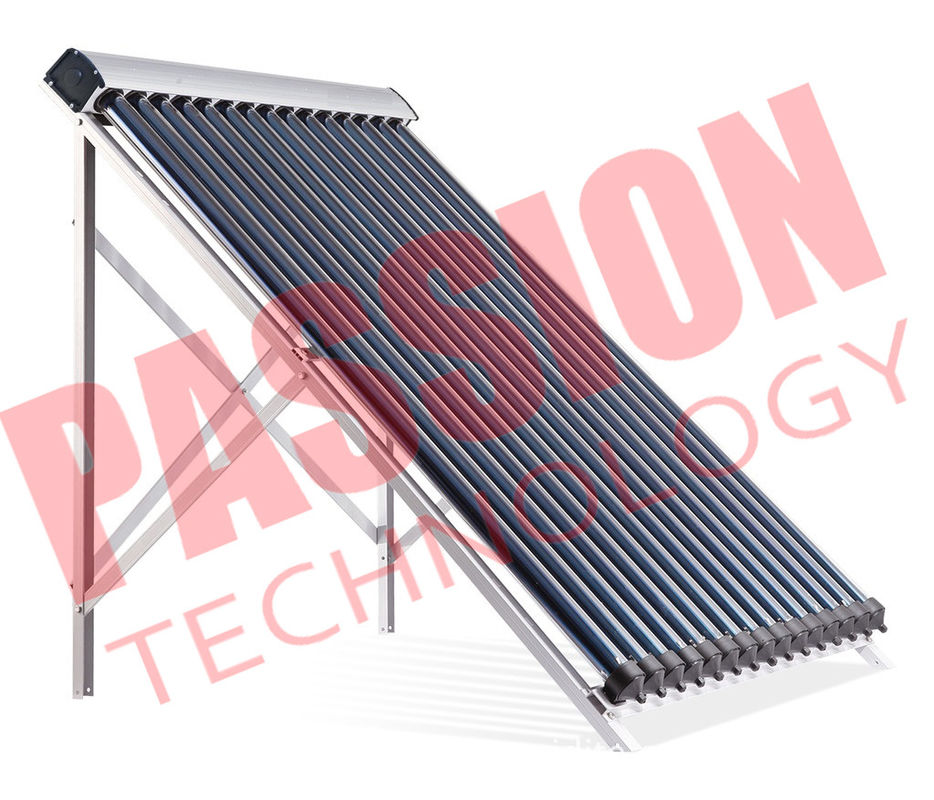 Compact Thermal Solar Collector Inclined Installation Roof 24mm Condenser Copper