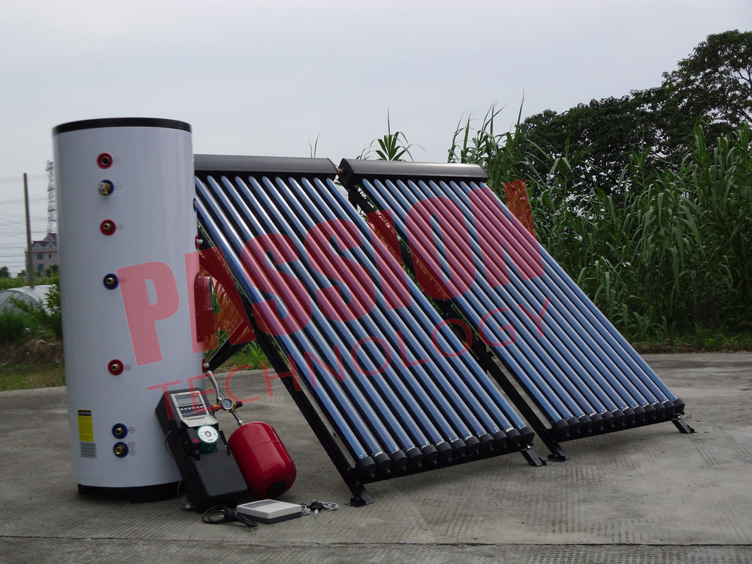 Industrial Solar Water Heater Copper Coil , Home Solar Water Heating Systems