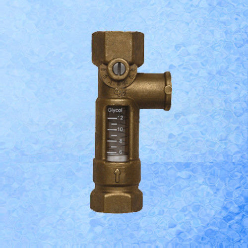 High Accurate Brass Mechanical Flow Meter Direct Reading For Balancing Valve