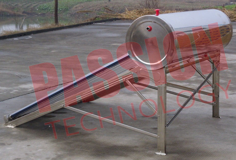 Food Grade Vacuum Tube Solar Water Heater Portable With Painted Steel Shell