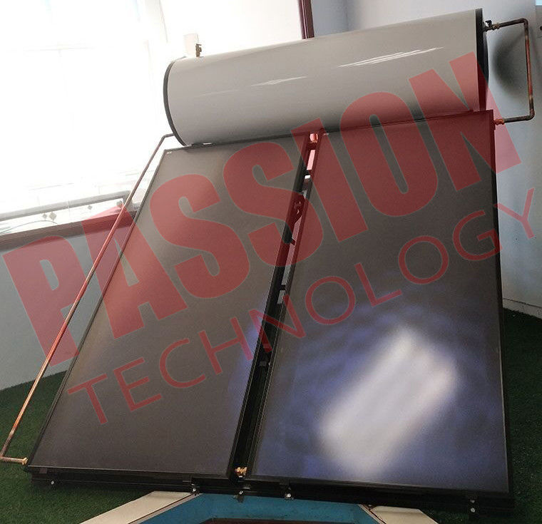 Integrated Pressurized Flat Plate Collector Solar Water Heater Copper Aluminum Material