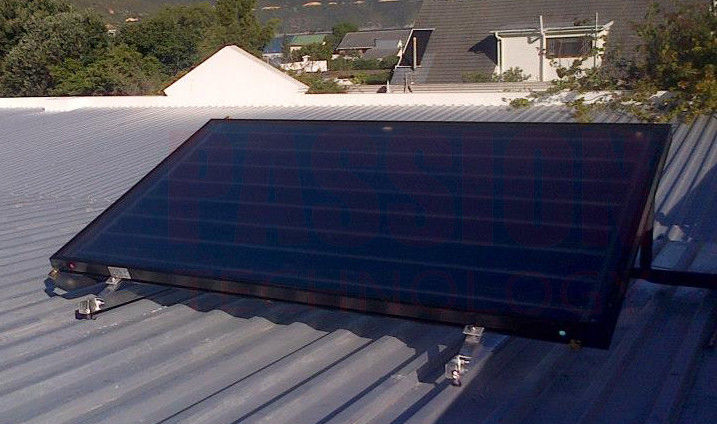Flat Panel​ Blue Titanium Absorber Solar Water Heater , Split Flat Plate Solar Collector
