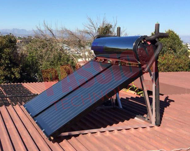 Home Thermal Flat Plate Solar Geysers Hot Water Heater Closed Circulation