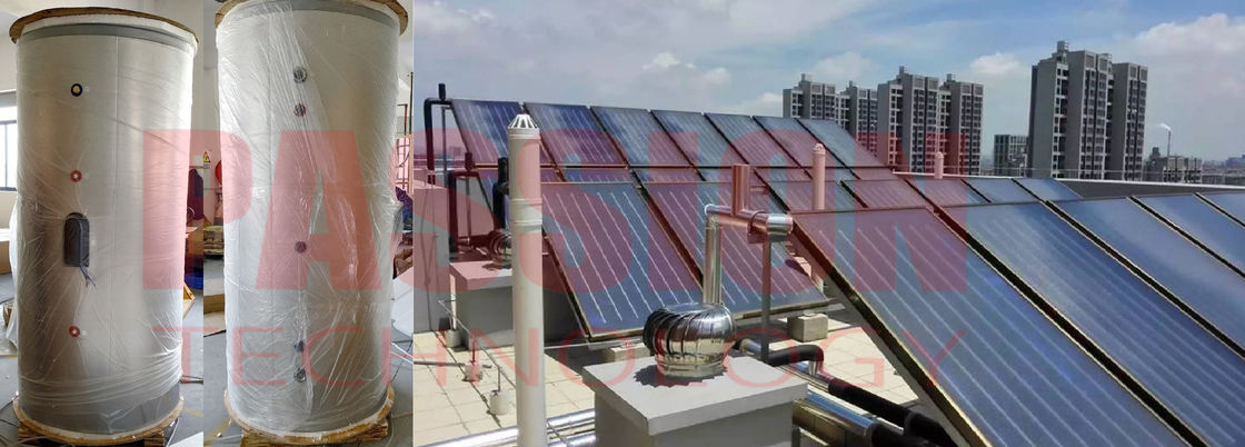 Large Capacity Solar Water Heating System for Hotel Resort Split Pressurized Solar Water Heater Flat Plate Collector